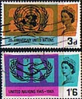 Great Britain 1965 United Nations ICY Set Fine Used