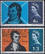 Great Britain 1966 Burns Commemoration Set Fine Mint