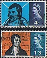 GB Stamps Great Britain 1966 Burns Commemoration Set Fine Mint
