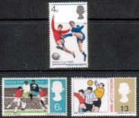 Great Britain 1966 Football World Cup Set Phosphor Bands Fine Mint