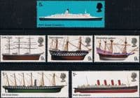 Great Britain 1969 British Ships Set Fine Mint