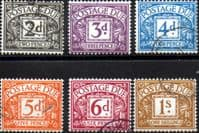 Great Britain 1969 Postage Due Set Fine Used