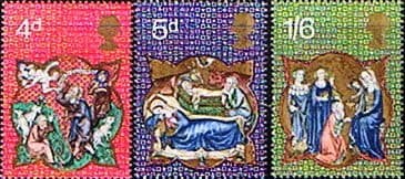 Postage Stamp Stamps Great Britain 1970 Christmas Set Fine Mint