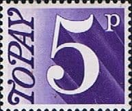 Stamps Great Britain 1970 Post Due SG D 82 Fine Mint Scott J 84