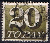 Great Britain 1970 Post Due SG D 86 Fine Used