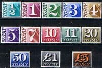 Great Britain 1970 Postage Due Set Fine Mint