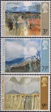 Great Britain 1971 Ulster Paintings Set Fine Mint