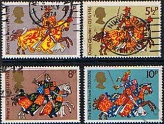 Great Britain 1974 Medieval Warriors Set Fine Used