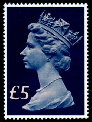 Great Britain 1977 High Values £5 Fine Mint