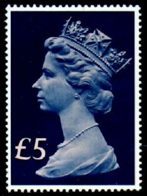 GB Stamps Great Britain 1977 High Values £5 Fine Mint SG 1028 Scott MH 176