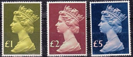 GB Stamps Great Britain 1977 High Values £1 Fine Mint SG 1026 Scott MH 169