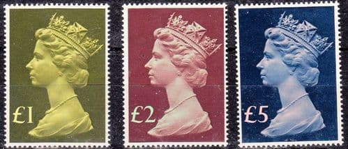 Great Britain 1977 High Values Set of 3 Fine Mint