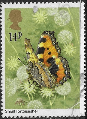 Stamps of Great Britain 1981 Butterflies Set Fine Mint GB