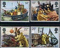 Great Britain 1981 Fishing Industry Set Fine Mint