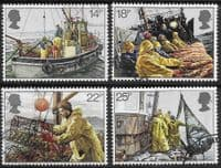Great Britain 1981 Fishing Industry Set Fine Used