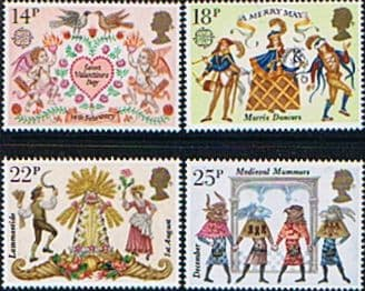 Post Stamp Stamps Great Britain 1981 Folklore Set Fine Mint