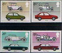 Great Britain 1982 British Motor Industry Set Fine Mint
