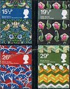 Great Britain 1982 British Textiles Set Fine Mint