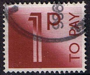 Stamps of Great Britain 1982 Post Due SG D 90 Fine Used Scott J 92