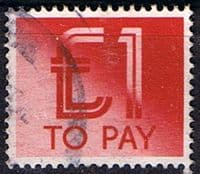 Great Britain 1982 Post Due SG D 99 Fine Used