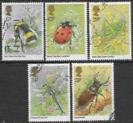 Great Britain 1985 Insects Set Fine Used