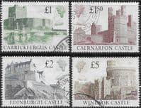 Great Britain 1988 Castles High Values Set Fine Used