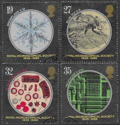 GB Stamps Great Britain 1988 Royal Microscopical Society Set Fine Mint
