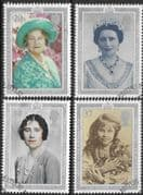 Great Britain 1990 90th Birthday of Queen Elizabeth the Queen Mother Set Fine Used