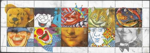 Great Britain 1990 Greetings Stamps. 'Smiles' Tennant Strip Fine Used
