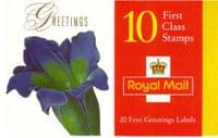 Great Britain 1997 Flower Paintings Booklet SG KX2 Fine Mint