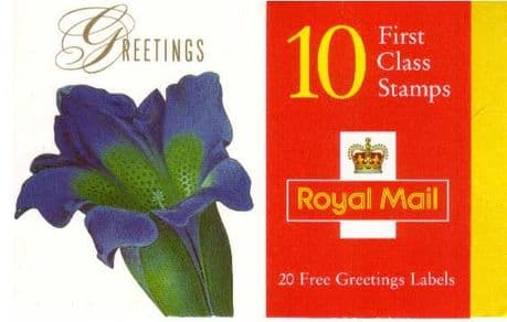 Stamps of Great Britain 1997 Flowers Booklet SG KX9 GB