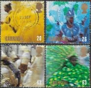 Great Britain 1998 Festivals. Notting Hill Carnival Set Fine Used