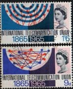 Great Britain International Telecomunication Union Set Phosphor Bands Fine Used