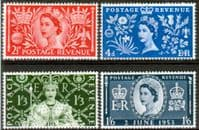 Great Britain Queen Elizabeth II 1953 Coronation Set Fine Mint
