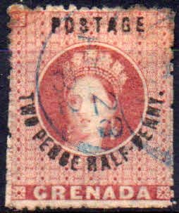 Grenada 1881 Queen Victoria Surcharged SG 22 Good Used