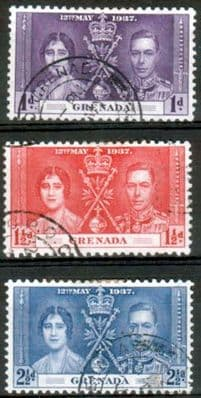 Grenada 1937 King George VI Coronation Set Fine Used