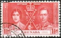 Grenada 1937 King George VI Coronation SG 150 Fine Used