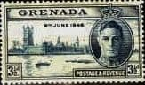 Grenada Stamps 1946 King George VI Victory Set Fine Mint