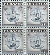 Grenada 1953 Badge of the Colony SG 201 Fine Mint Block of 4