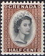 Grenada 1953 Queen Elizabeth Head SG 192 Fine Mint