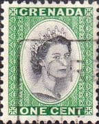 Grenada 1953 Queen Elizabeth Head SG 193 Fine Used