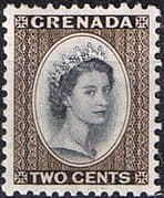 Grenada 1953 Queen Elizabeth Head SG 194 Fine Mint