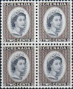 Grenada 1953 Queen Elizabeth Head SG 194 Fine Mint Block of 4