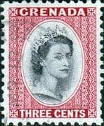 Grenada 1953 Queen Elizabeth Head SG 195 Fine Used