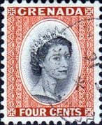 Grenada 1953 Queen Elizabeth Head SG 196 Fine Used