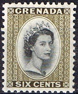 Grenada 1953 Queen Elizabeth Head SG 198 Fine Mint