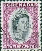 Grenada 1953 Queen Elizabeth Head SG 200 Fine Used