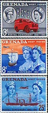 Stamps stamp Grenada 1961 Stamp Centenary Set Fine Mint