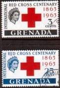 Grenada 1963 Red Cross Centenary Set Fine Used