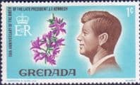 Grenada 1968 Kennedy and Flowers SG 277 Fine Mint